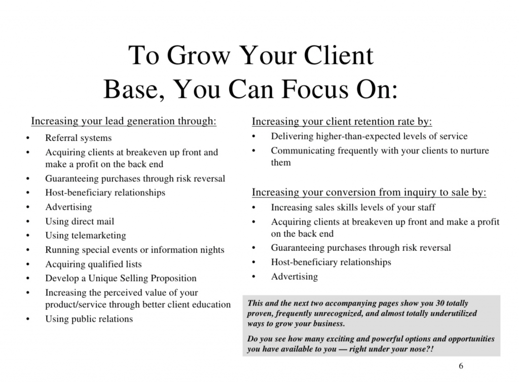 grow your clients