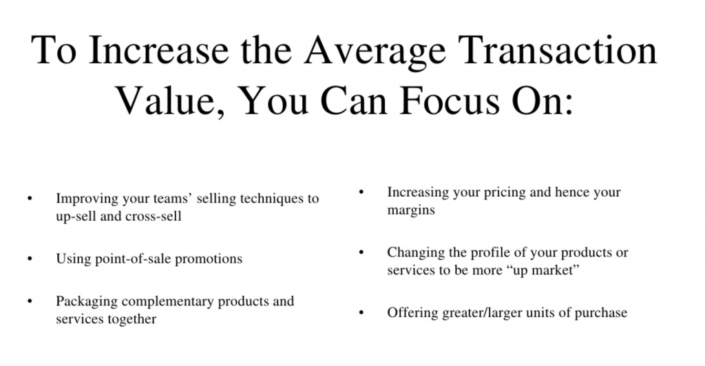 increase average transaction value
