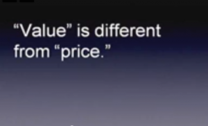 value not price